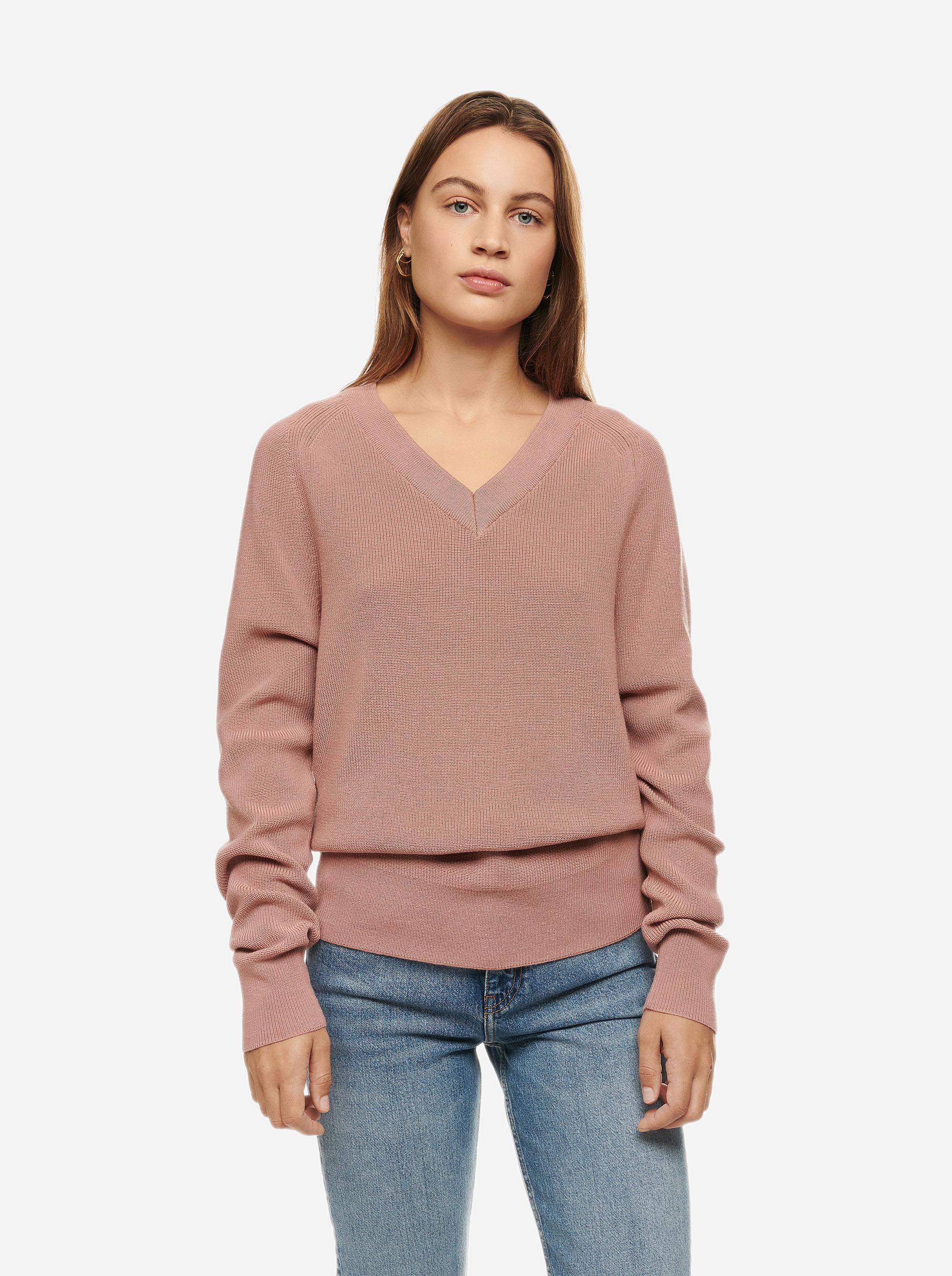 Teym - V-Neck - The Merino Sweater - Women - Pink - 1