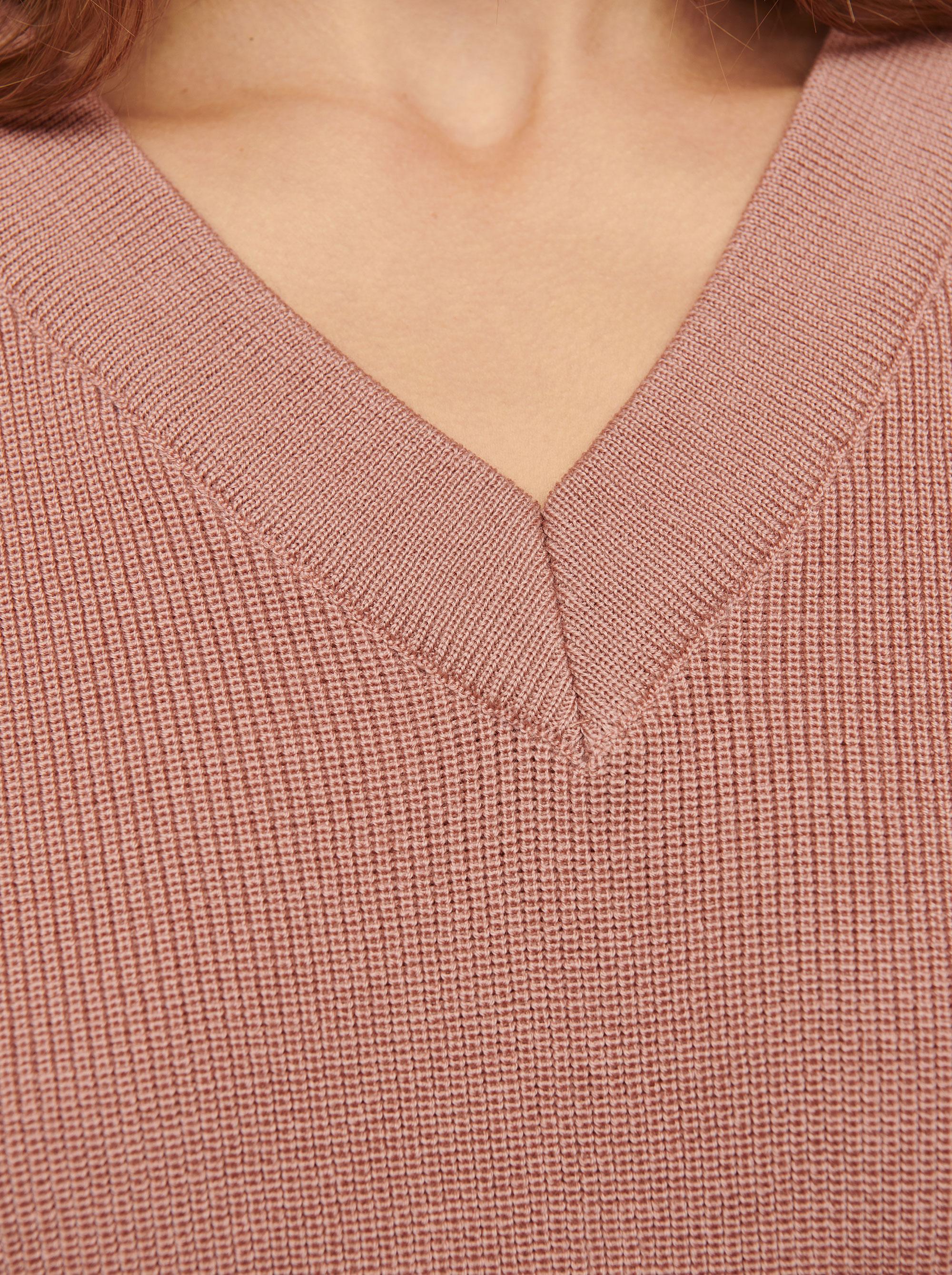 Teym - V-Neck - The Merino Sweater - Women - Pink - 2