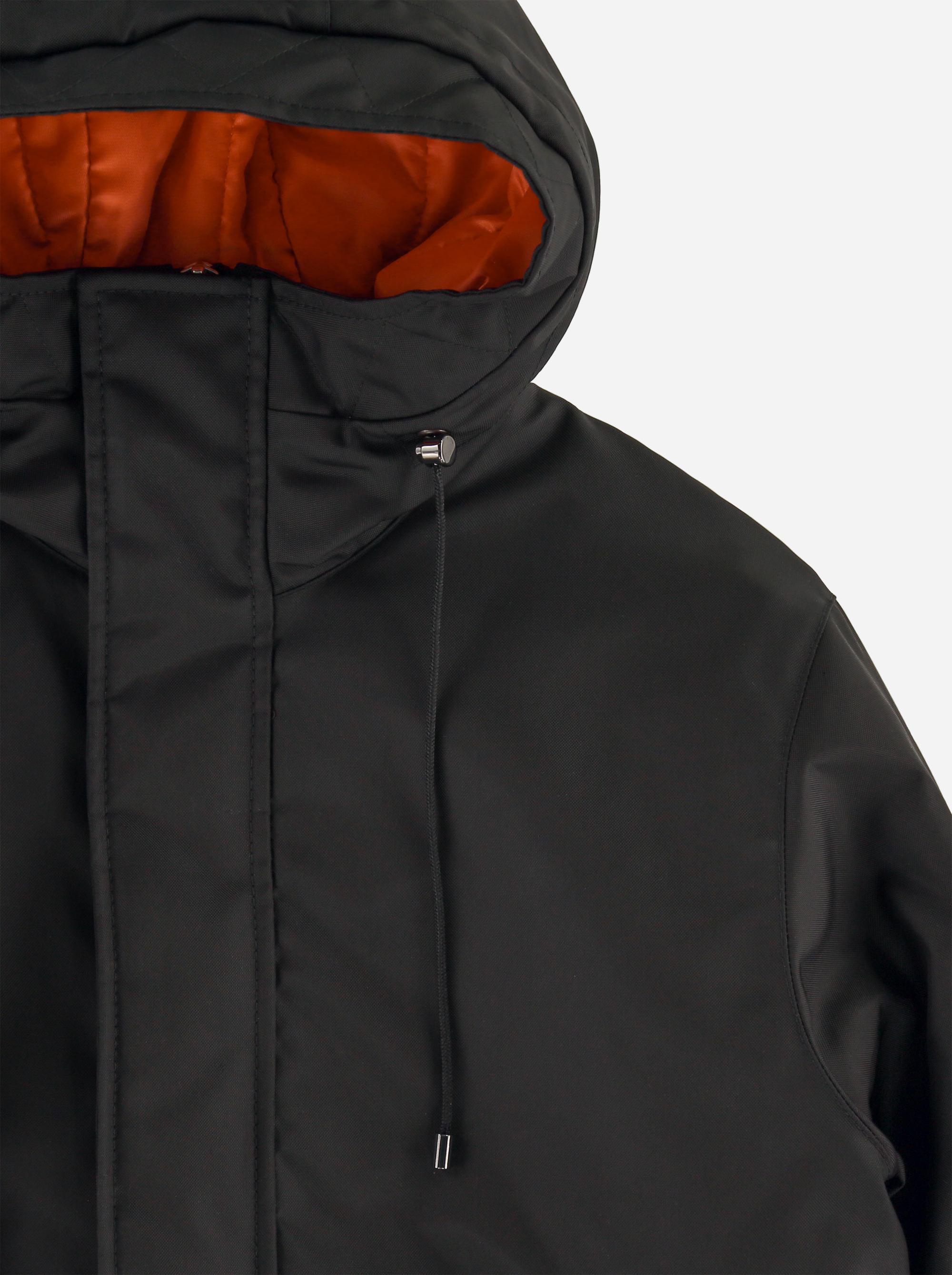 Teym_ParkaMatte_Black Orange_Men_detail1