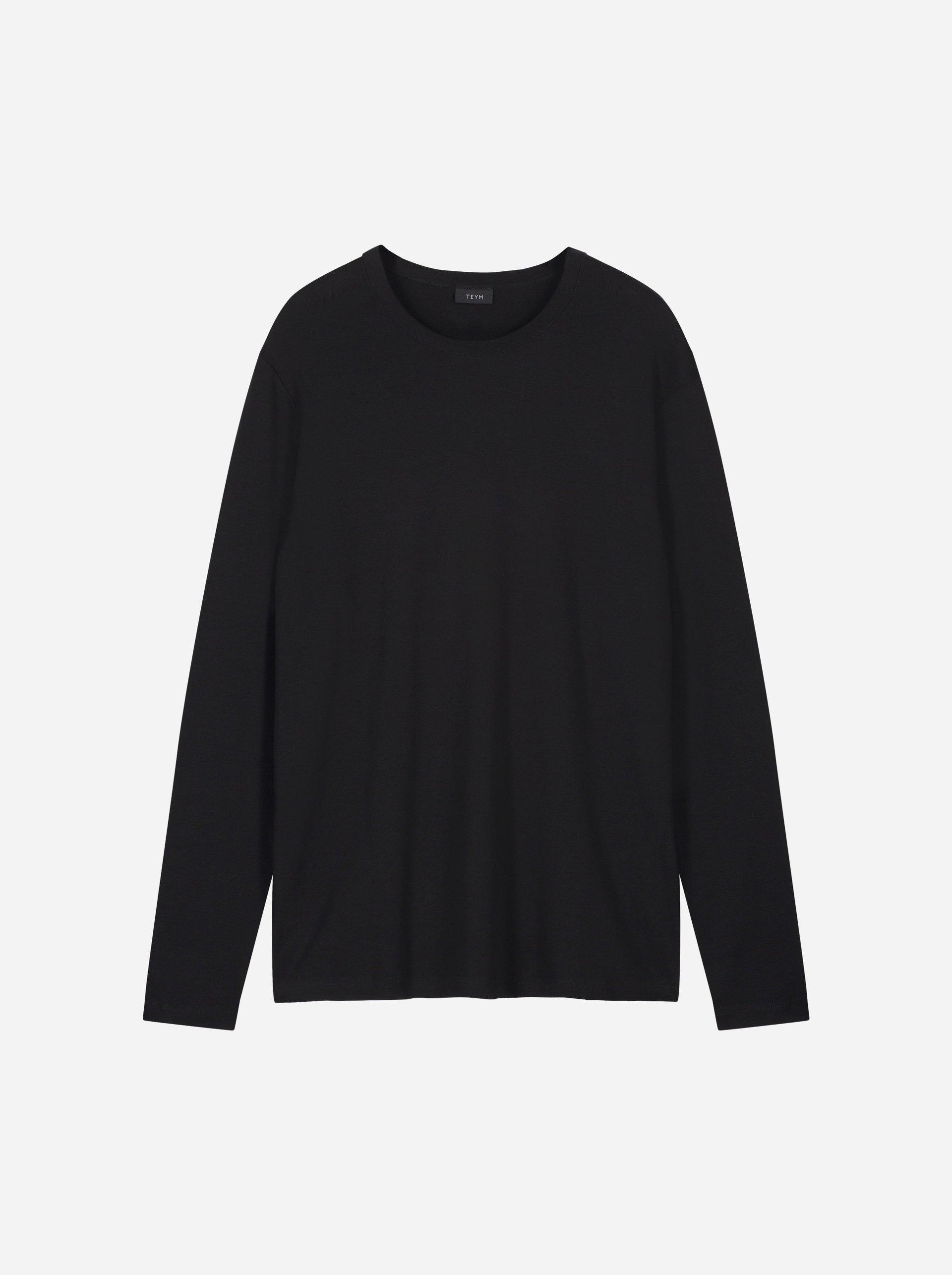 Teym - The-T-Shirt - Longsleeve - Men - Black - 4
