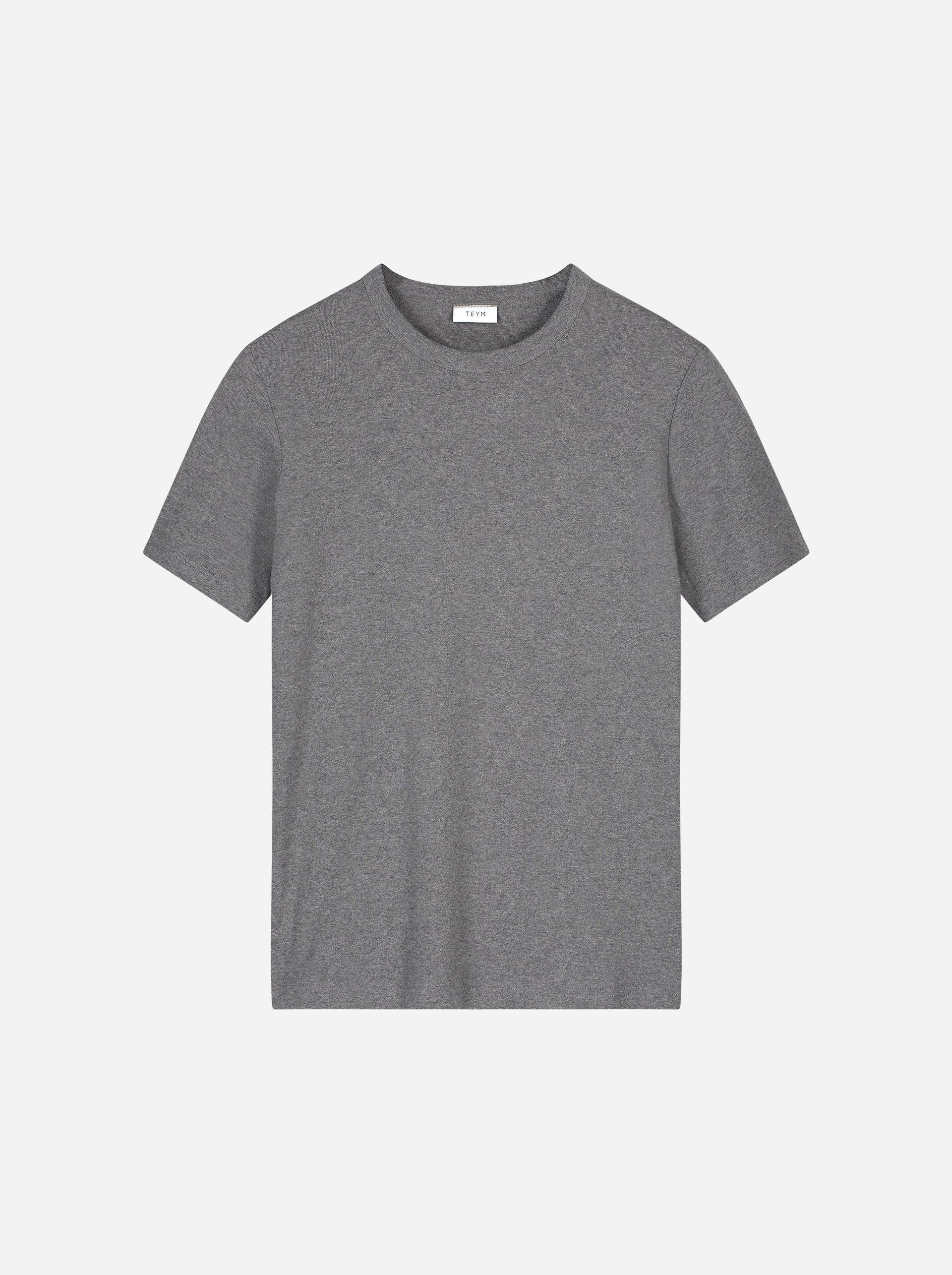 Teym - The T-Shirt - Women - Melange grey - 4B