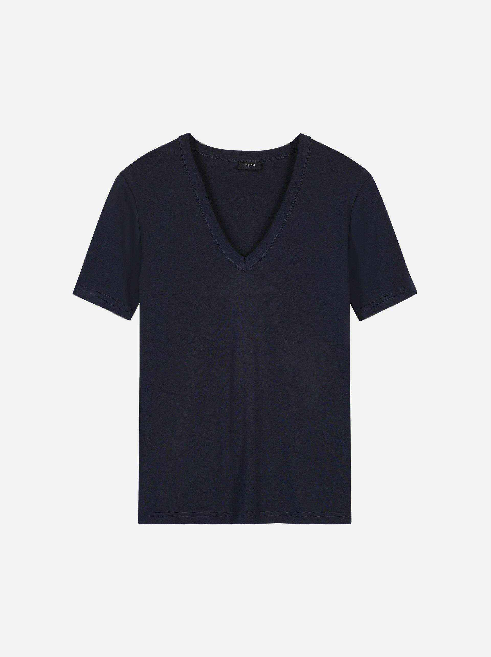 Teym - The T-Shirt - V-Neck - Women - Blue - 6
