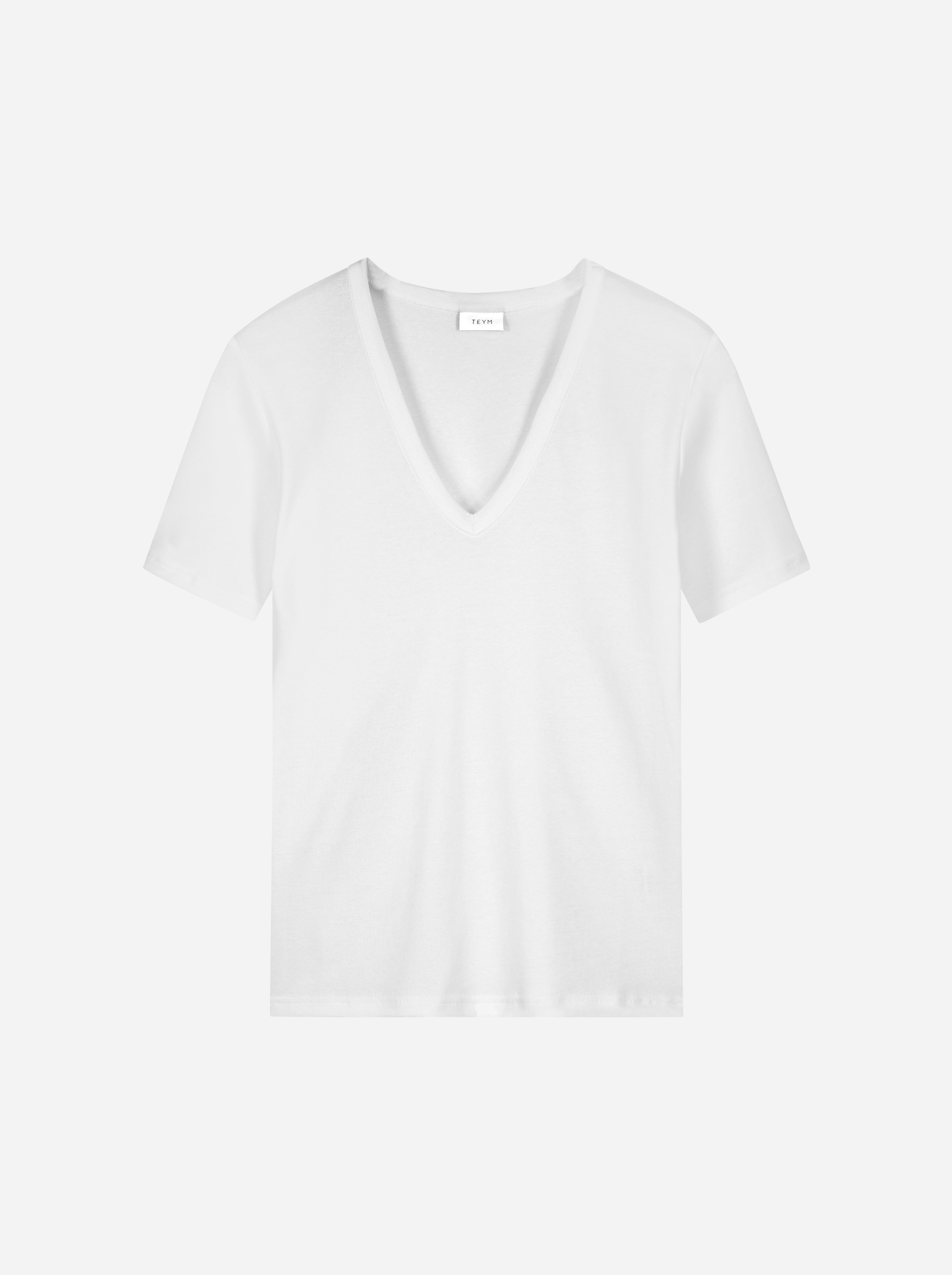 Teym_The V-Neck T-Shirt_white_female_front_1B