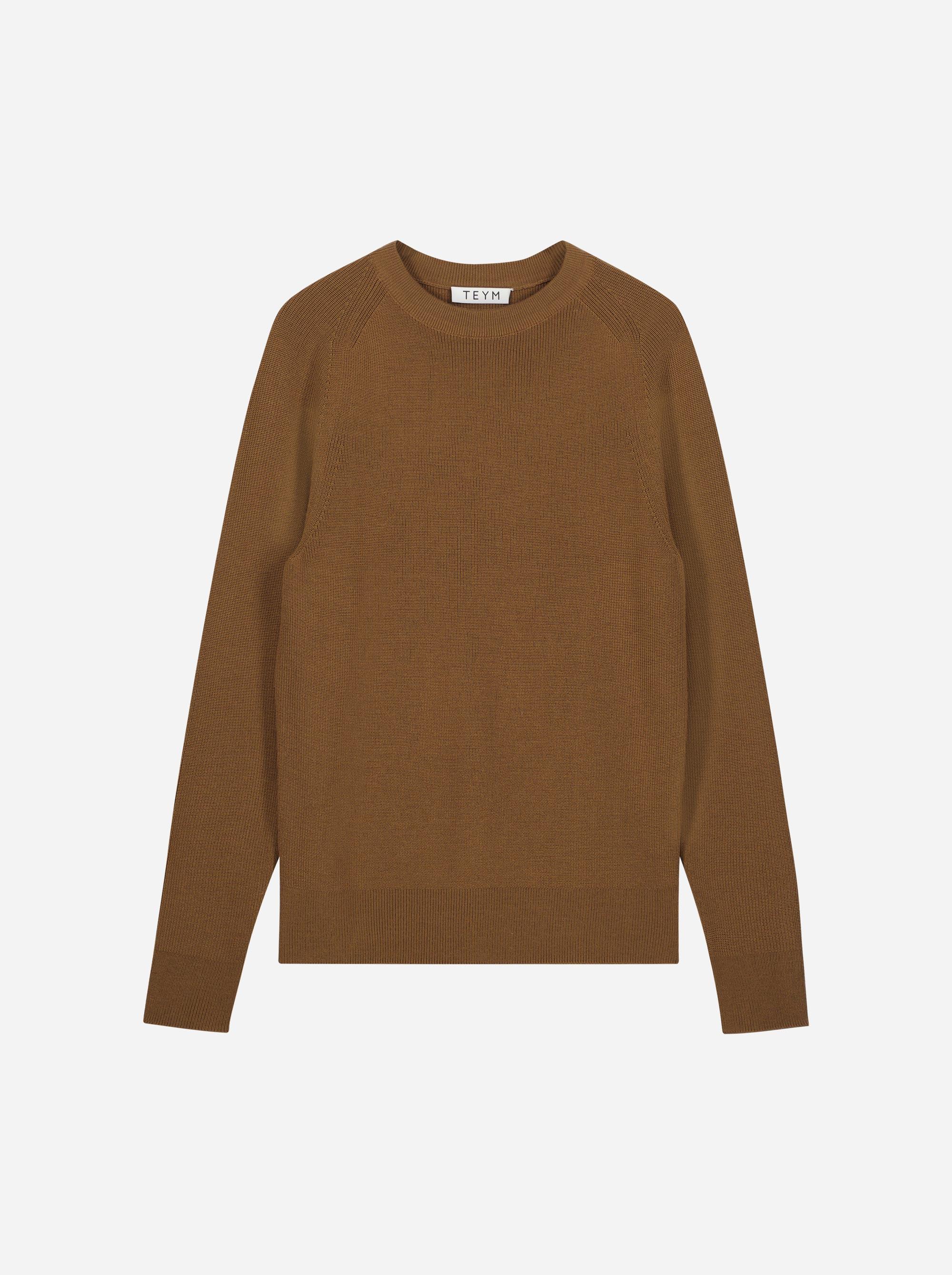 Teym_Merino-Sweater-Crewneck_Brown_front_1