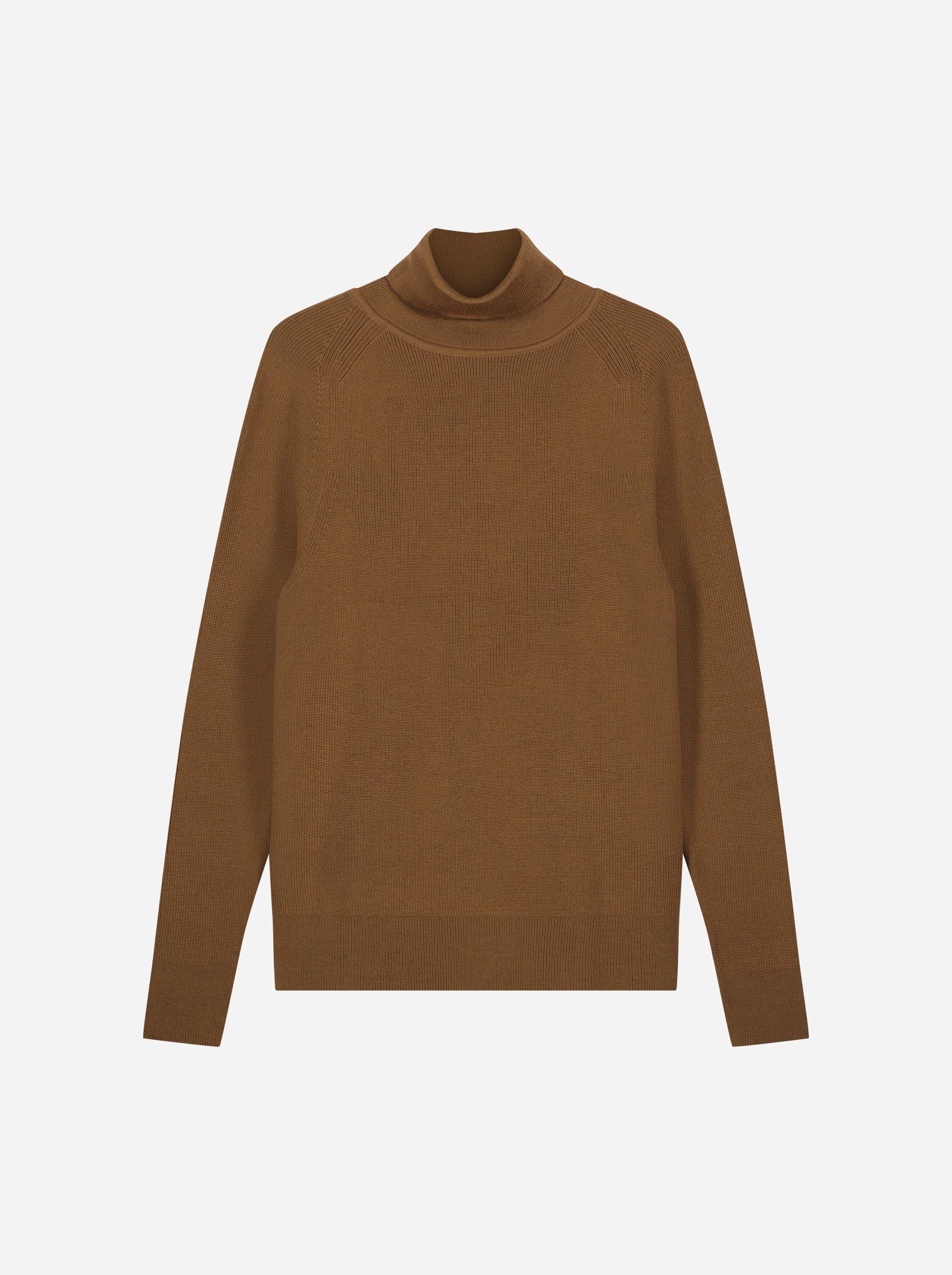 Teym_Merino-Sweater-Turtleneck_Brown_front_1