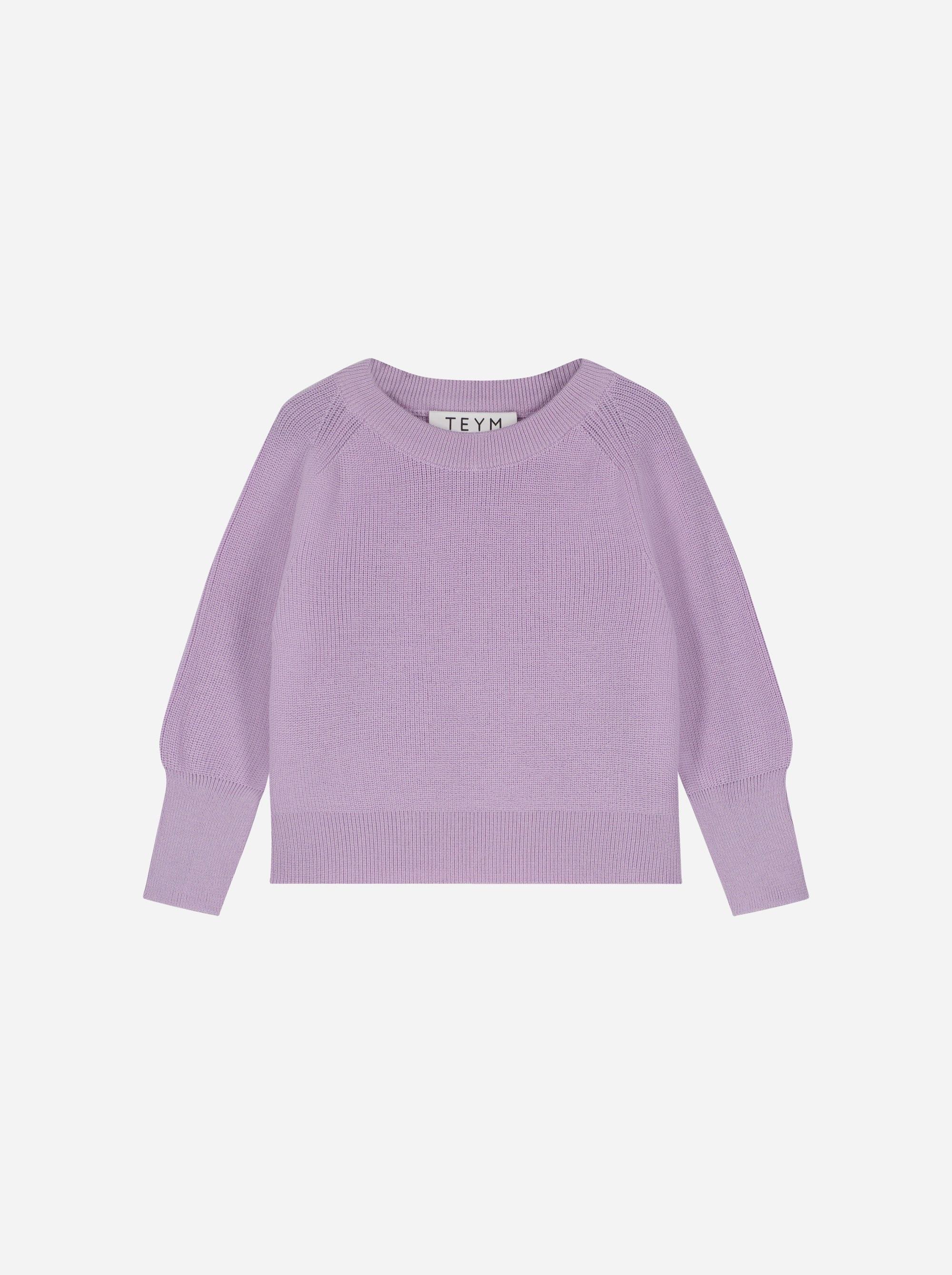 Teym_Merino Sweater_Lila_Kids_front_1